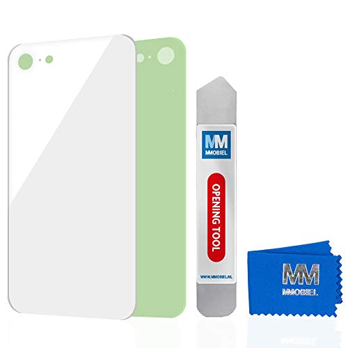 MMOBIEL Tapa de Batería de Reemplazo Compatible con iPhone 8 (Blanco) 4.7Pulg Battery Back Cover con Adhesivo Incl Htas.