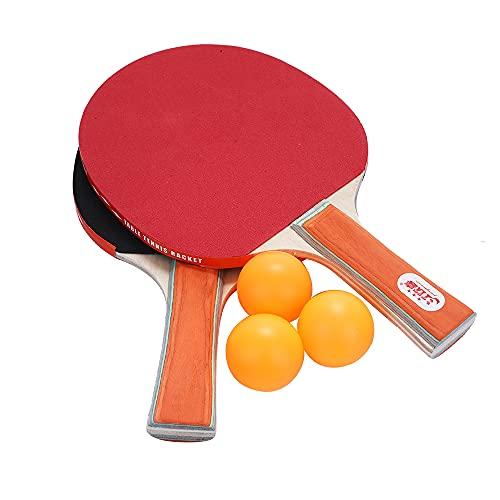 CHENGWANG Raqueta de ping pong de madera para ping-pong y paleta, palo de tenis de mesa, adhesivo inverso, para atletismo, deportes, deportes, atletismo, raqueta, juegos de juegos y ejercicio