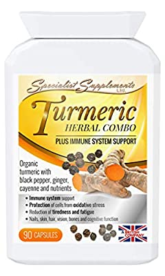 Specialist Supplements Turmeric Herbal Combo + Immune System Support by Specialist Supplements