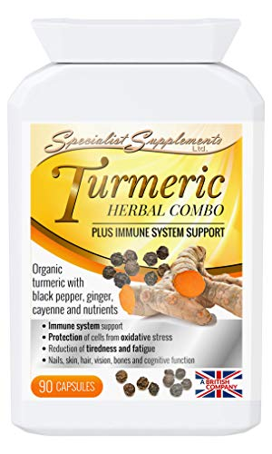 Specialist Supplements Turmeric Herbal Combo Plus Immune System Support 90 Capsules