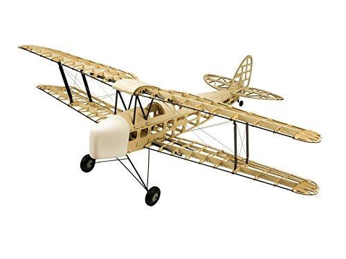 DW Hobby Dh82a Tiger Moth Bois de Balsa Avion Modèle 4CH électrique et au gaz Alimenté RC Avion 1400mm Laser Cut Modèle Aircraft Kits pour Construire pour Les Adultes