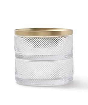 Umbra Tesora Jewelry Organizer Two-Tier Storage Box with Removable Lid Glass/Brass