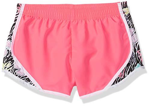 Soffe Girls' Big Shorty Short, Cotton Candy/Team Zebra, X-Large