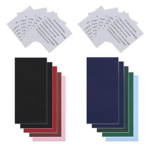 20 Stück wasserdichte Reparatur Patch Tape ,Transparent und Nylon Reparatur Flicken Selbstklebender Folie Set für Planschbecken Schwimmbad Familienpool Kleidung Daunenjacke Zelt