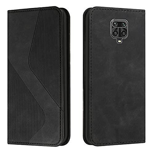 Coque pour Xiaomi Redmi Note 9 Pro 6.67inch Portefeuille, Housse en Cuir avec Porte Carte Fermeture par Rabat Aimanté Antichoc Étui Case pour Xiaomi Redmi Note 9 Pro - DEHX030590 Noir