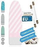 Innovativer Bügelbrettbezug für Dampfbügeleisen I Made IN EU I Bügeltischbezug mit Turbo Zone,...
