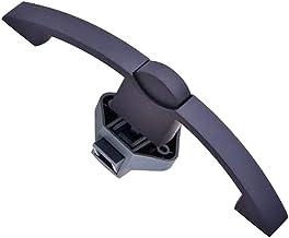 DronePost Slot met trekgreep met boogknop Ø 12 mm voor kastdeur en meubels, 14-16 mm, caravan, boten, yates (zwart)   Push...