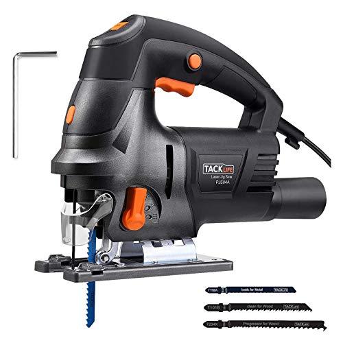 TACKLIFE Scie Sauteuse 800W, Guide Laser, 6 Vitesses...