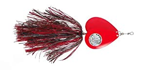 Musky Double Cowgirl Bait, 10-Inch, 2.8-Ounce, Black/Red