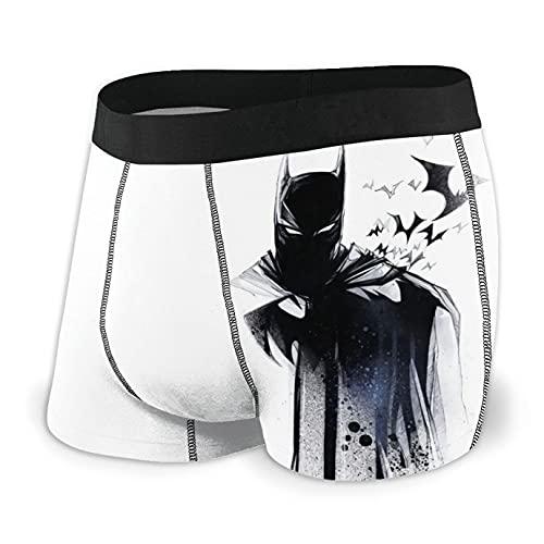 Bjiuda Bat_Man Herren-Boxershorts, Unterwäsche, bequem, Anime-Boxershorts, lustige Geschenke für Jungen Gr. XL, Schwarz