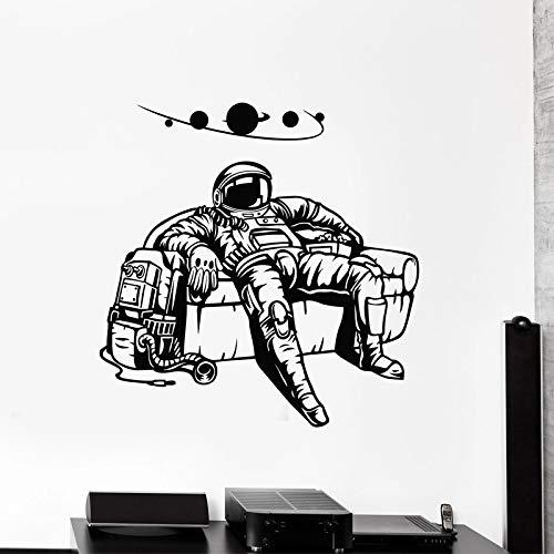WERWN Pegatina de Pared de Astronauta, calcomana Espacial de Astronauta, Pegatina planetaria para Disfraz, decoracin de Sala de Estar, decoracin de sof para nios y nios