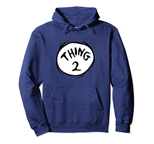 Dr. Seuss Thing 2 Emblem Color Option Pullover Hoodie