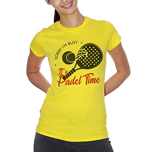 T-Shirt Sorry I'm Busy Its Padel Time Sport Tennis Sport Divertente - Choose ur Color Uomo L
