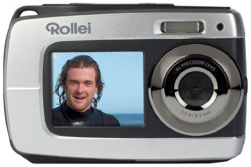 Rollei Sportsline 62 Digitalkamera (10 Megapixel CMOS Sensor, 8-Fach digitaler Zoom, 6,9 cm (2,7 Zoll) Display, HD-Video) Silber