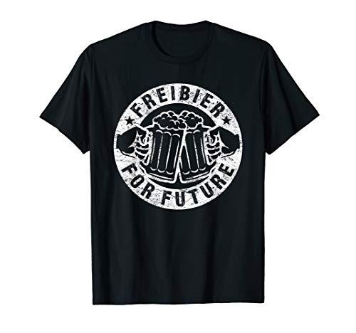 FREIBIER FOR FUTURE TShirt Bier Spruch Oktoberfest Fun Shirt T-Shirt