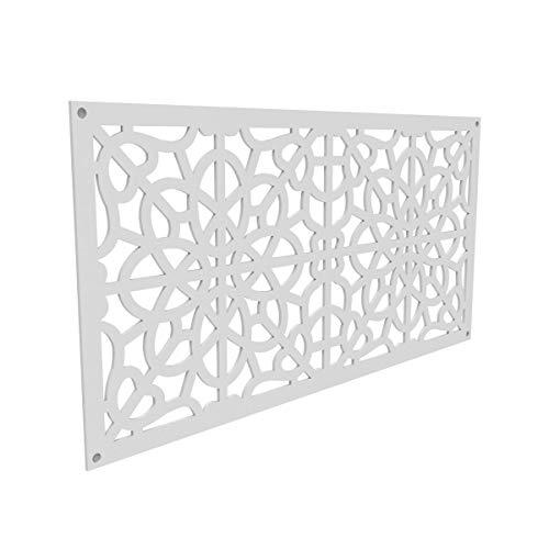 YardSmart 73004785 Decorative Screen Panel 2X4-Fretwork, White