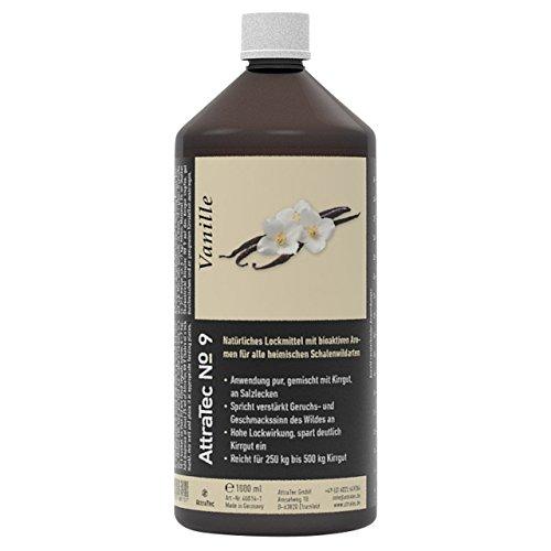AttraTec No 9 Premium Lockmittel Wild Schalendwild Reh Rothirsch Gams Steinbock Wildschweine Kirrgut oder Salzlecken 1 Liter – Vanielle