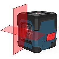 Nivel Láser, HANMATEK Cross Nivel láser Puntos Horizontales y verticales 15M Nivel láser autonivelante con modo Manual/Autonivelante IP54 Anti-Splash 1M a Prueba de Golpes (batería incluida)