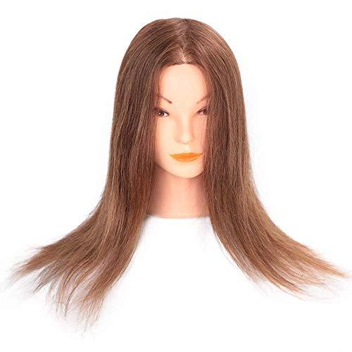 LDSBGJ Pan haar dummy hoofd model haar make-up styling haar oefenhoofd pruik model hoofd