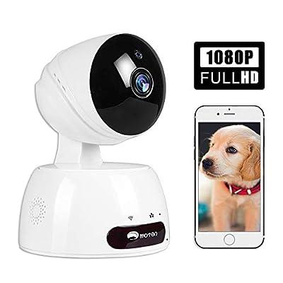 Pet Camera, Dog Camera with Phone App Full HD WiFi Indoor Cat Camera Pet Monitor Night Vision 2 Way Audio Motion Detection Alexa (White)
