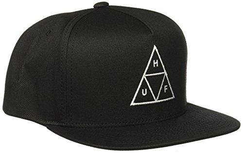Herren Kappe HUF Triple Triangle Snapback Cap, Black, Einstellbar