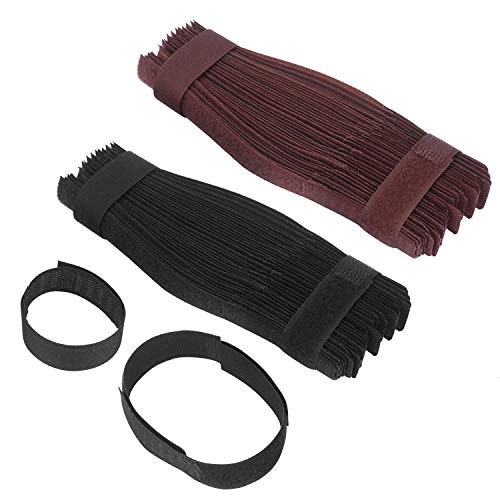 100pcs Reusable Cable Ties, Adjustable Fastening Wire Organizer, Cord Roll Cable Ties Tidy...