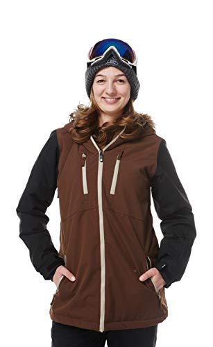 Light Damen Flow Jacket, Dark Brown/Black, M