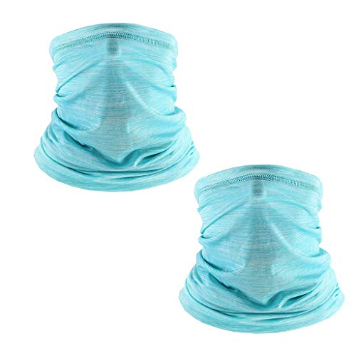 QHJ 2 PCS Unisex Halstuch Schlauchschal,Staubschutz Gesichtsmaske Outdoor Halswärmer Skimaske Atmungsaktiv Mund-Tuch Sport Motorrad Fahrrad Joggen Face Shield UV-Schutz