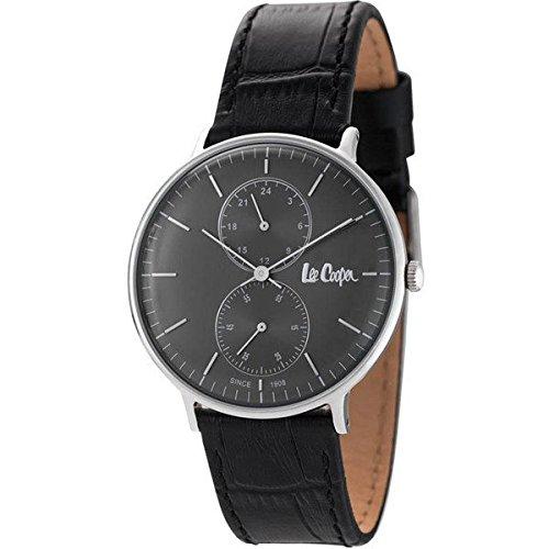 [リークーパー]Lee Cooper ロンドン発 ジーンズブランド メンズ ブラック レザー LC6381.361 腕時計 [並行輸入品]