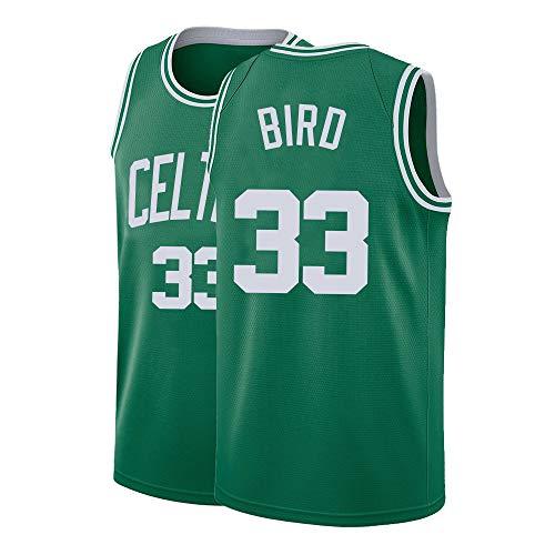 Mens Bird Jersey Basketball 33 Adult Athletics Shirts Sports Retro (X-Large) Green