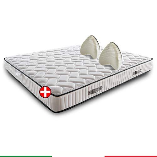 Materasso memory ortopedico SFODERABILE semirigido con Cuscini per le gambe memory in PROMOZIONE – GIGLIO H22/23 200x200 cm