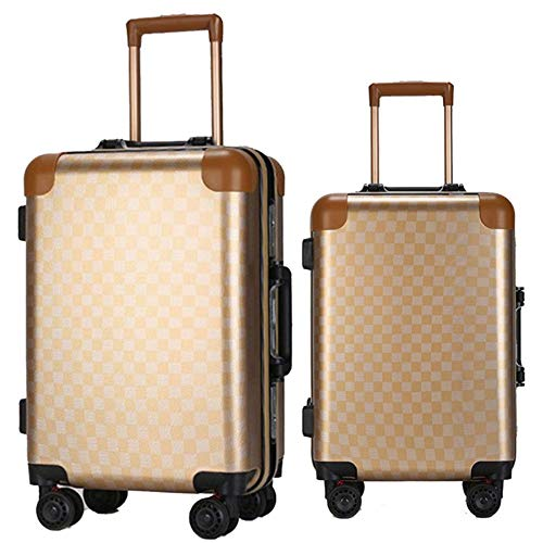 Sale!! TangFeii-trunk Luggage with Spinner Wheels 20in 24in Luggage 3 Piece Set Suitcase Spinner Har...