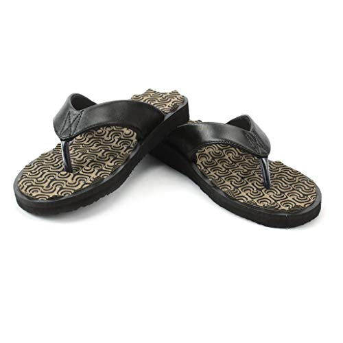Medlife Orthopedic & Diabetic Care Footwear/Slipper/Chappal for Men with Extra Cushioning (Wonder Brown, numeric_9)