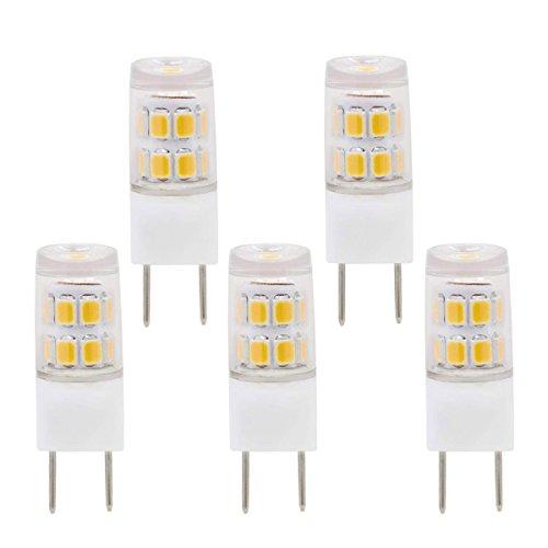 Zxln G8ampoule LED Blanc chaud 2700K 25W equivalent 25W lampe halogene Puck lumieres eclairage sous Comptoir de cuisine non dimmable Ac110V 130V lot de 5