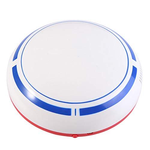 MAVIS LAVEN Aspiradora robótica automática Inteligente - Máquina barredora doméstica - Recargable por USB - para Pelo de Mascotas, Piso Duro, Alfombra de Pelo Corto(White)