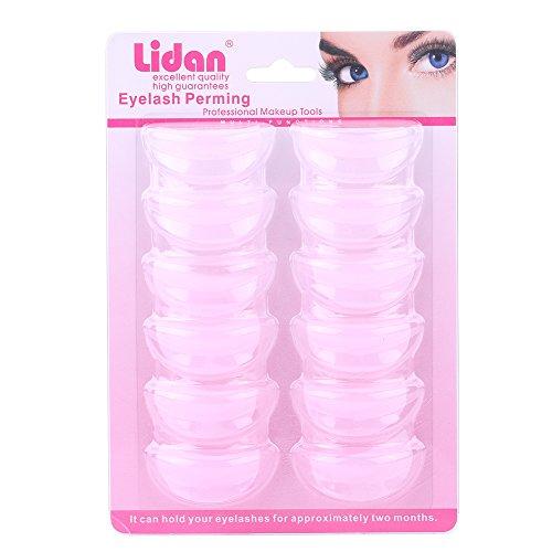 6 paires de coussinets de cils perméables en silicone faux cils permanente de curling pad de levage de cils outil de maquillage