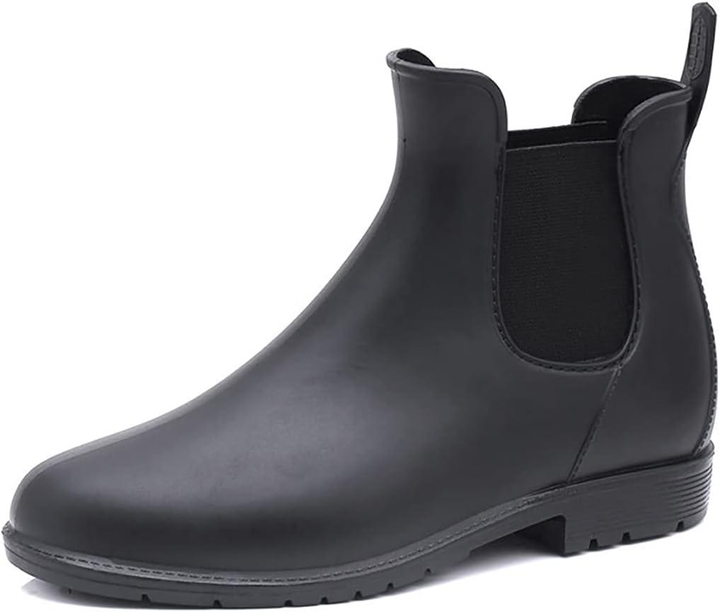 Lnrueg Novelty Funky Creative Classic Girls Girl Lady Ladies Woman Short Ankle Rain Boots Nonslip Lightweight Rainy Boots Rain Shoes for Women