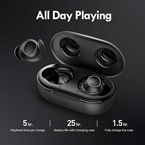 Wireless Earbuds, Mpow M30 in-Ear Bluetooth Earbuds, Immersive Bass Sound, IPX8 Waterproof Sport Earphones, Touch Control Bluetooth Headphones, 25 Hrs w/USB-C Charging Case/Mics