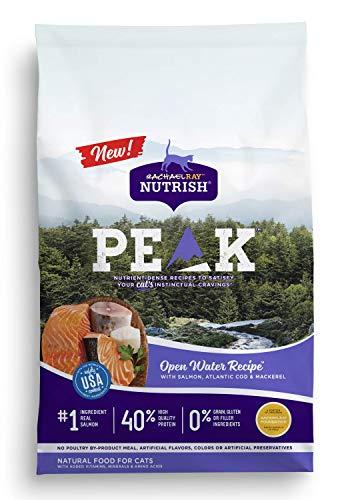 Rachael Ray Nutrish PEAK Natural Dry Cat Food, Open Water Recipe with Salmon, Atlantic Cod & Mackerel, 3 Pounds, Grain Free