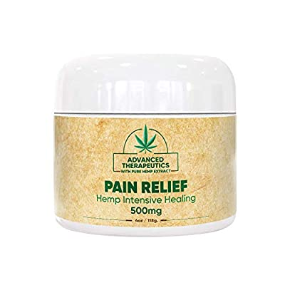 500MG 4 Ounce Hemp Cream for Fast Pain Relief Double The Size and Power of All Arnica Cream Infused with 500 mg of Hemp Oil for Pain Relief of Knee Pain, Back Pain,Neuropathy by Advanced Therapetuics HEMP CREAM PAIN MUSCLE RUB