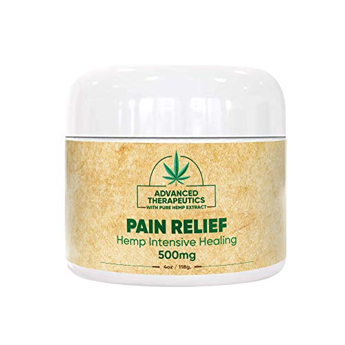 500MG 4 Ounce Hemp Cream for Fast Pain Relief Double The Size and Power of All Arnica Cream Infused with 500 mg of Hemp Oil for Pain Relief of Knee Pain, Back Pain,Neuropathy