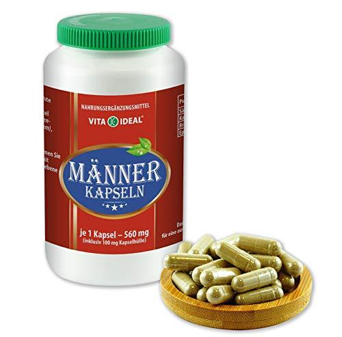 VITAIDEAL ® Männer 180 Kapseln je 560mg, mit Sägepalme, Brennessel, Epilobe, Katzenkralle, ohne Zusatzstoffe von NEZ-Diskounter