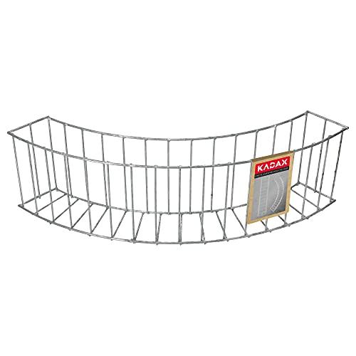 KADAX Gartenkante aus Stahl, solide Gabione, Ziergabione, Steingabione, Steinkorb, Hochbeet, Drahtkorb, Gabionenwand, Steinzaun (Rund)