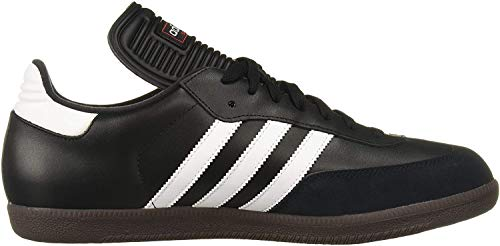 adidas Men's Samba Classic Soccer Shoe,Black/Running White,8.5 M US