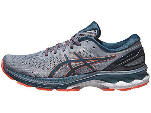 ASICS Men's Gel-Kayano 27 Running Shoes, 10.5M, Sheet Rock/Magnetic Blue