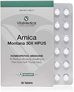 VitaMedica Arnica Montana 30X HPUS Tablets/Pills, Convenient 5 Day Blister Pack Homeopathic for Bruising & Swelling