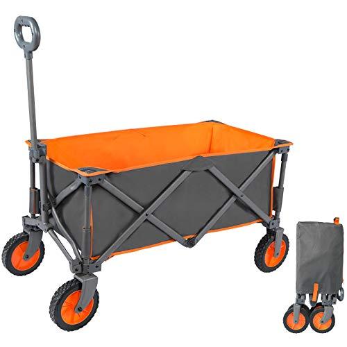 PORTAL Bollerwagen faltbar Handwagen Transportwagen tragbar Strandwagen Gartenwagen Faltwagen für alle Gelände