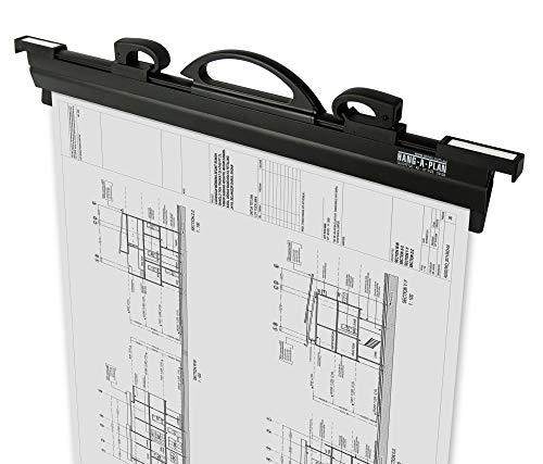 Hang-A-Plan 18インチ クイックファイル ハンギングクランプ ブラック 最大150のプランを収納 1 Pack