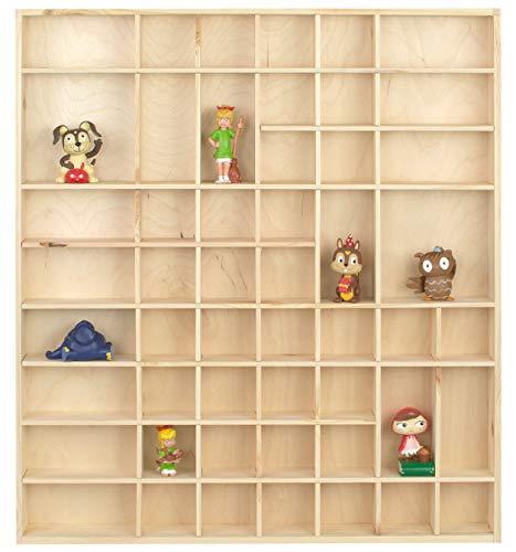 LAUBLUST Großer Setzkasten für Tonie Figuren - Tonie Regal für ca. 58 Hörfiguren | ca. 52x46x5cm, Natur, Holz FSC®