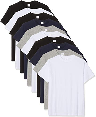 Luigi Bottoni Hombre T-Shirt, Pack de 10